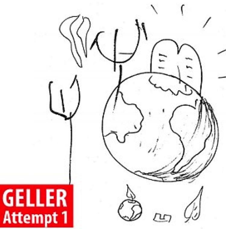 У Геллера от чертика остался лишь трезубец