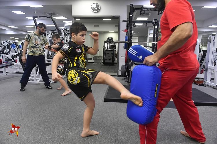 Сыновья Кадырова на тренировке