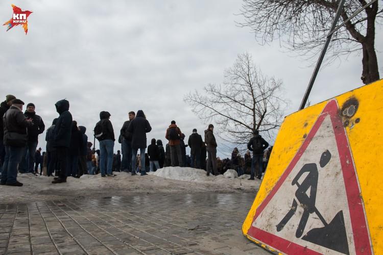 Сквер Пушкина оказался не готов принять митингующих