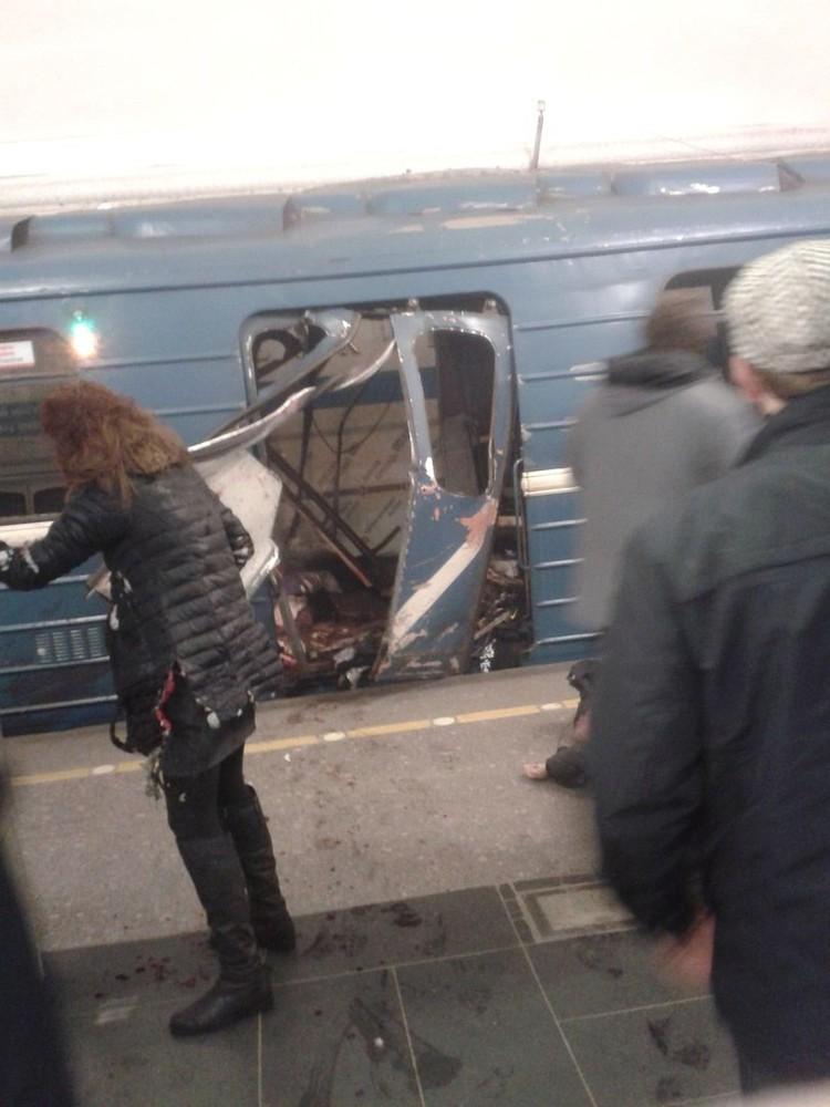 Сообщается, что мощность взрывов в петербургском метро была относительно небольшой