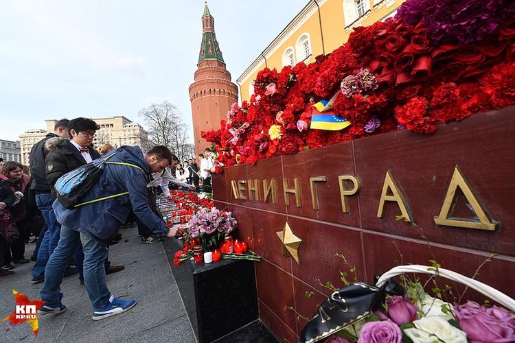 На Манежной прошел вечер памяти жертв теракта в Санкт-Петербурге
