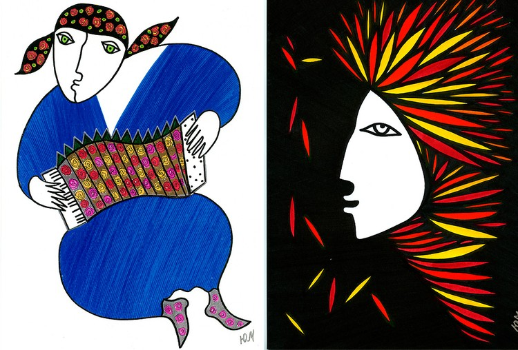 Рисунки поэтессы Юнны Мориц
