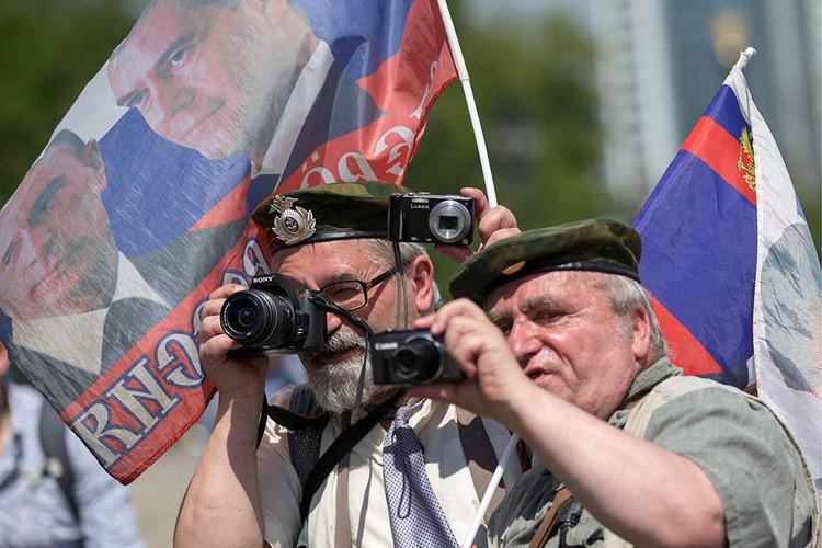 Блогеры на праздновании Дня России на Поклонной горе. Фото: Сергей Бобылев/ТАСС