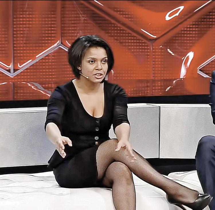 """Анастасия Кормышева часто выступает на различных шоу. Фото: Канал """"Россия 1"""""""