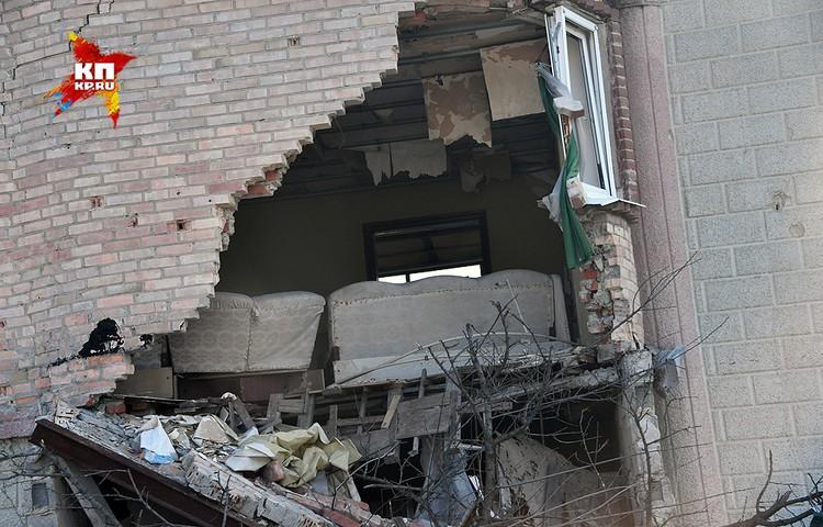 Дом без стены на улице Стратонавтов.