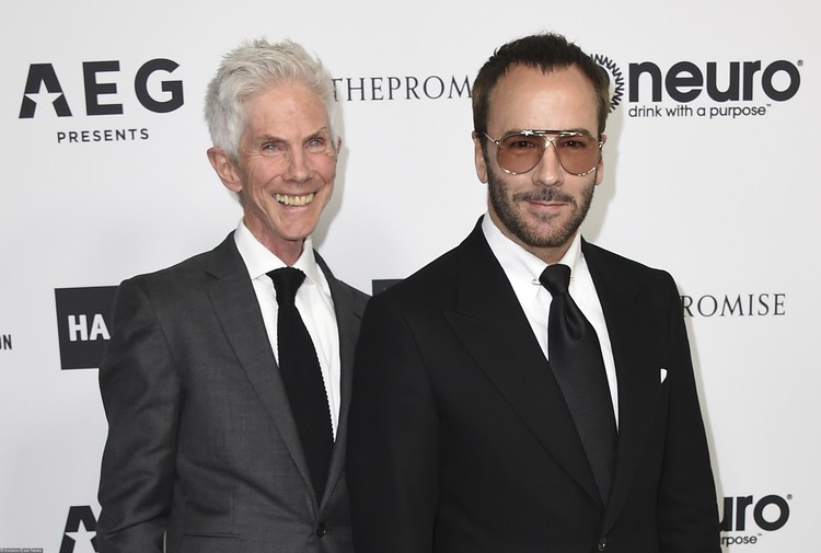 Том Форд (справа) и Ричард Бакли, экс-главред Vogue Hommes International