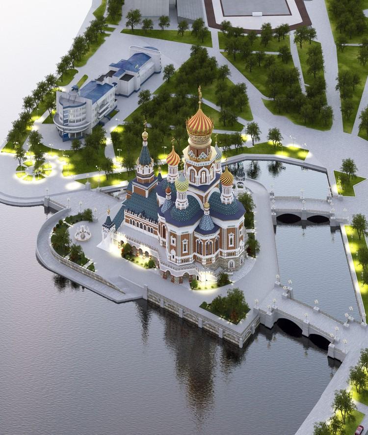 От идеи разместить храм на акватории городского пруда власти решили отказаться