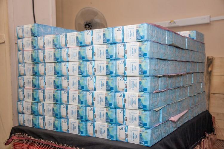 Вот так выглядит миллиард рублей.