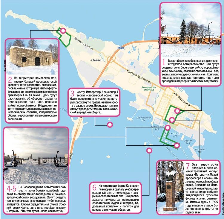 """Кронштадтский парк """"Патриот"""" будет включать в себя несколько территорий."""