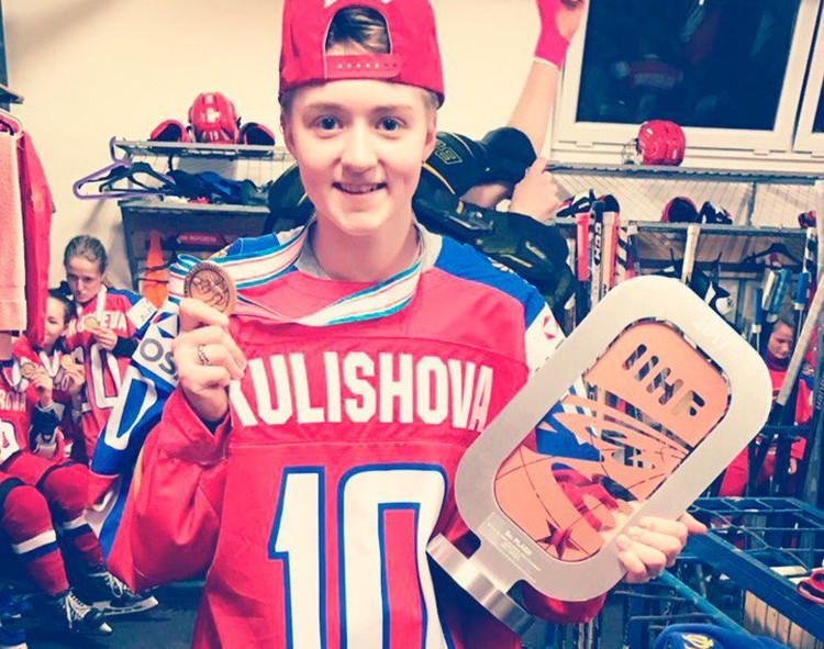 Хоккеистке Виктории Кулишовой всего 18 лет, а она уже - член олимпийской сборной!