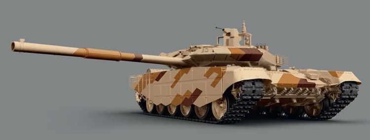 Макет танка Т-90 МС. ФОТО Уралвагонзавод