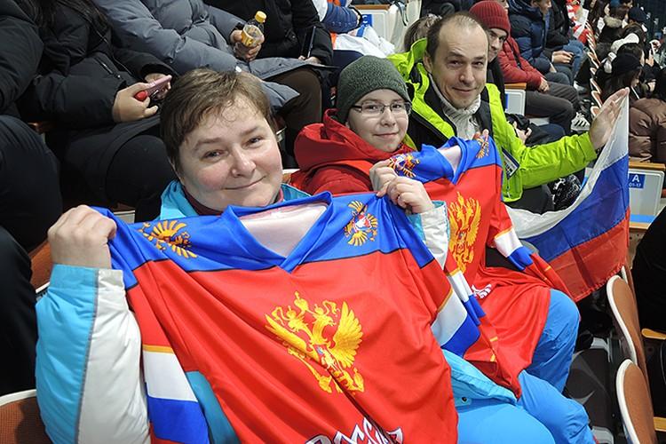 Семья Максимовых из Краснодара приехала поддержать наших спортсменов
