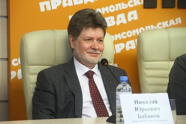 Проректор НГТУ им. Р. Е. Алексеева Николай Бабанов.