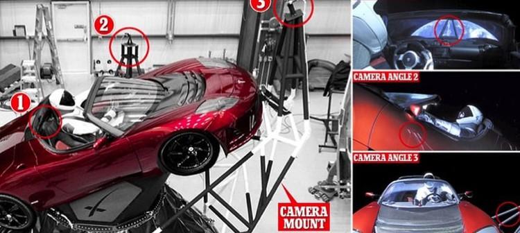 Кабриолет снимали три выносных камеры.