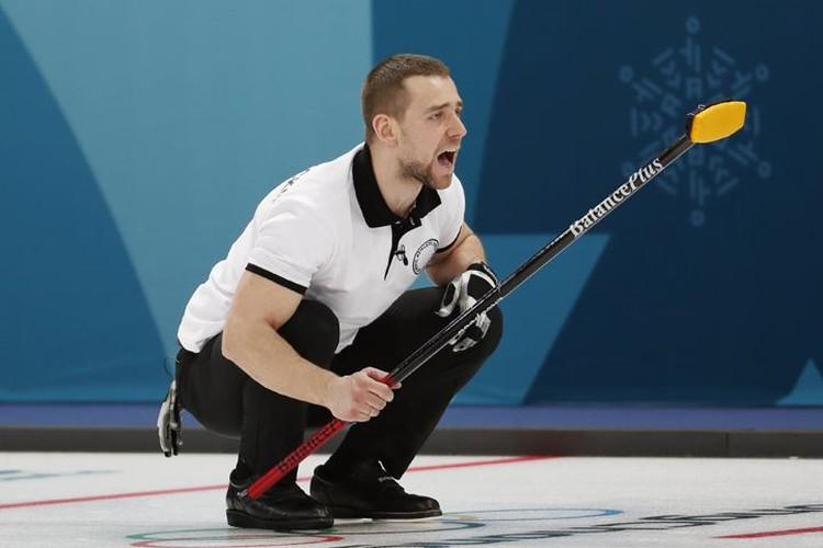 Александр Крушельницкий во время матча с командой Южной Кореи