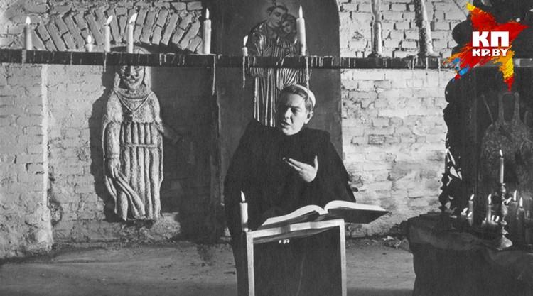 Владимир Короткевич оказался очень колоритным исполнителем роли священника. Фото: архив семьи Владимира Короткевича