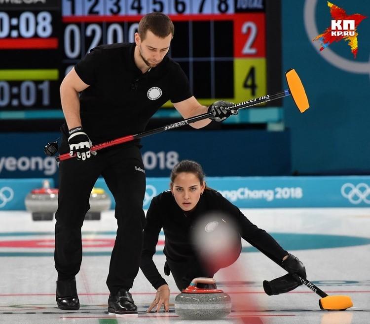 Александр Крушельницкий и Анастасия Брызгалова во время Олимпиады в Пхенчхане.