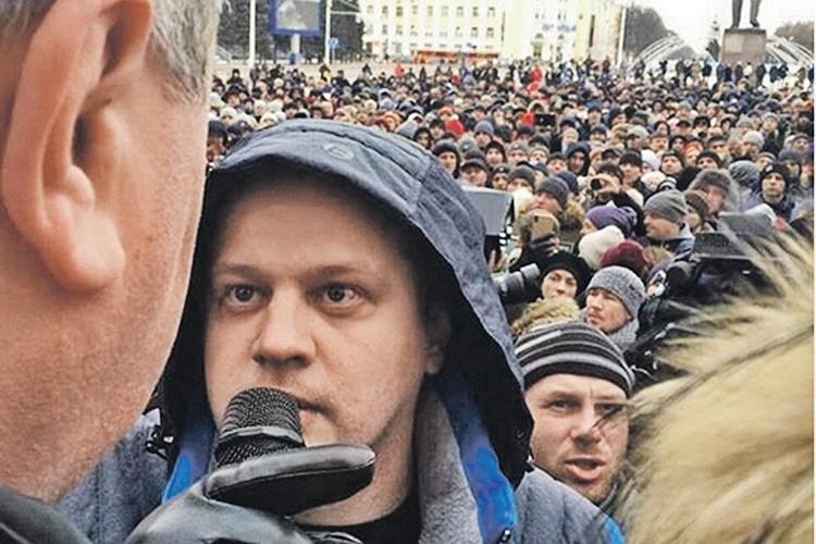 Игорь Востриков на митинге в Кемерове, вторник 27 марта 2018 года. ФОТО instagram.com/aavst