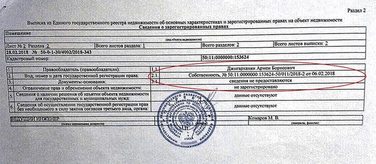 Джигарханян является собственником квартиры в «Рублевском предместье» с февраля этого года.