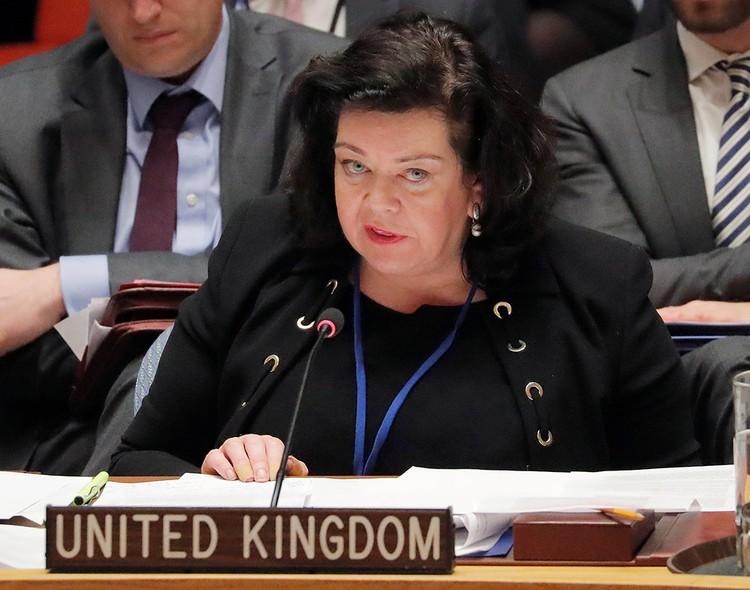 Постпред Великобритании при ООН Карен Пирс.