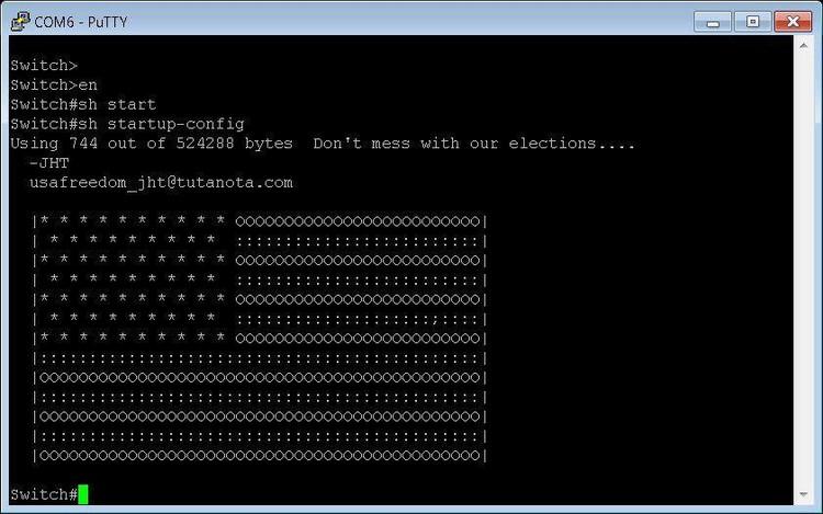 «Послание» хакеров