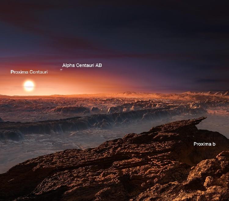Такой пейзаж откроется перед поколением достигшим Proxima Centauri b.
