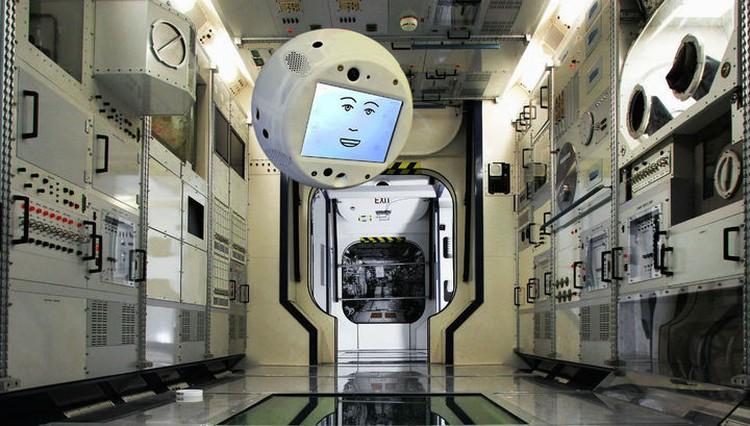 Робот-помощник CIMON. Иллюстрация: Airbus