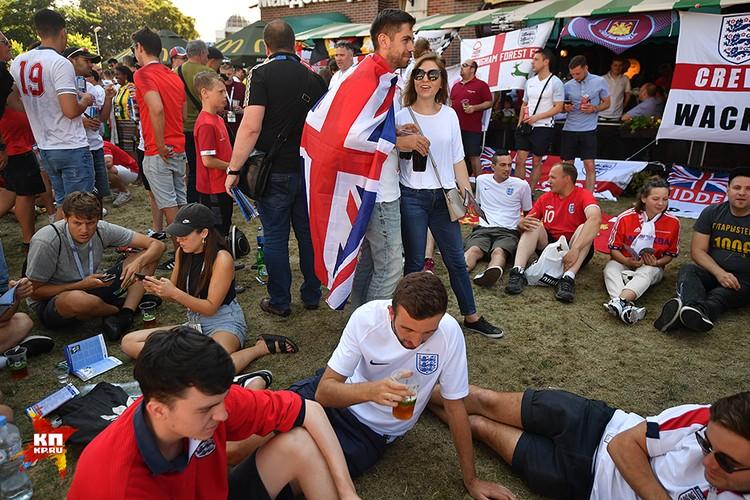 Английских болельщиков приехало на чемпионат не очень много