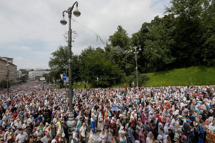 Православные приезжали в Киев не только из многих украинских областей, но и из России и Белоруссии