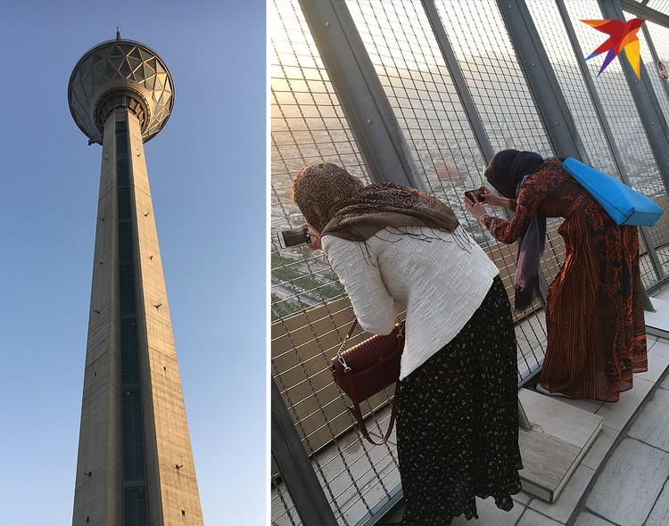 Смотровая площадка в телебашне Тегерана – любимое место для прогулок местных жителей и редких туристов