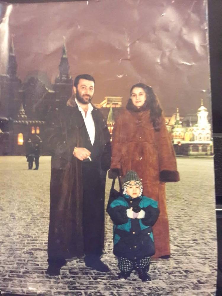 Аурелия и Михаил с сыном Сережей.