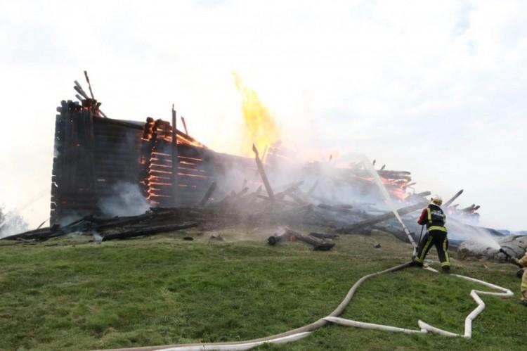 Церковь выгорела полностью Фото: ГУ МЧС Республики Карелия