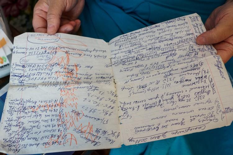 Все факты, добытые в ходе расследования, Лариса Ураева помечает в специальной тетрадке