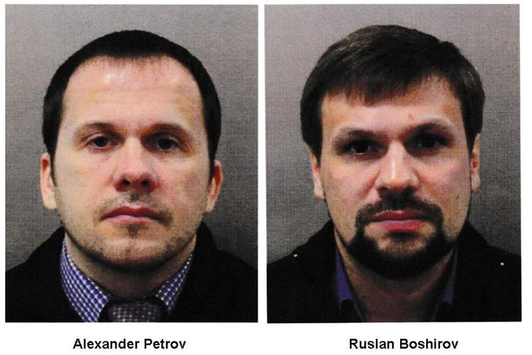 Распространенные британской полицией фотографии Александра Петрова и Руслана Боширова.