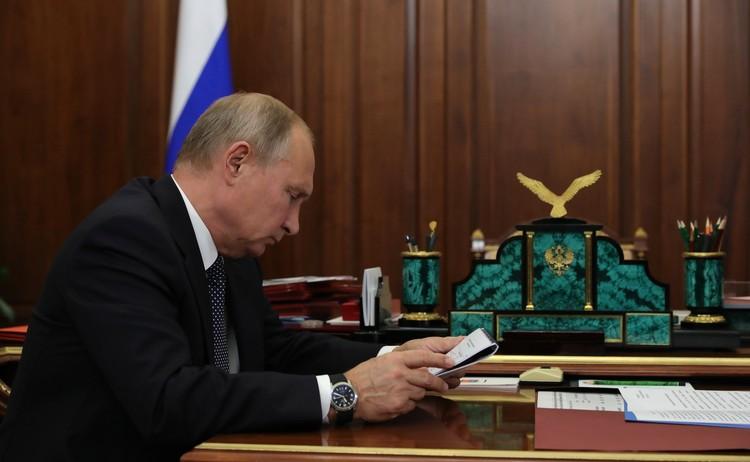 Рабочая встреча в Кремле. Автор фото: пресс-служба Кремля