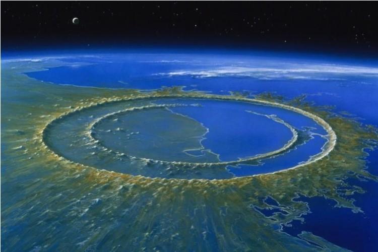 Кратер Чиксулуб - крупнейший на Земле.
