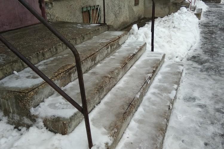 Липчане пожаловались на скользкие тротуары