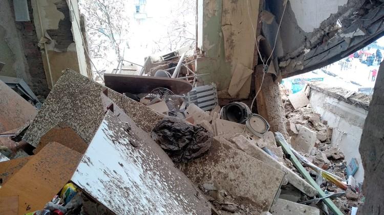 В результате взрыва обрушились три этажа Фото: ДСНС Украины