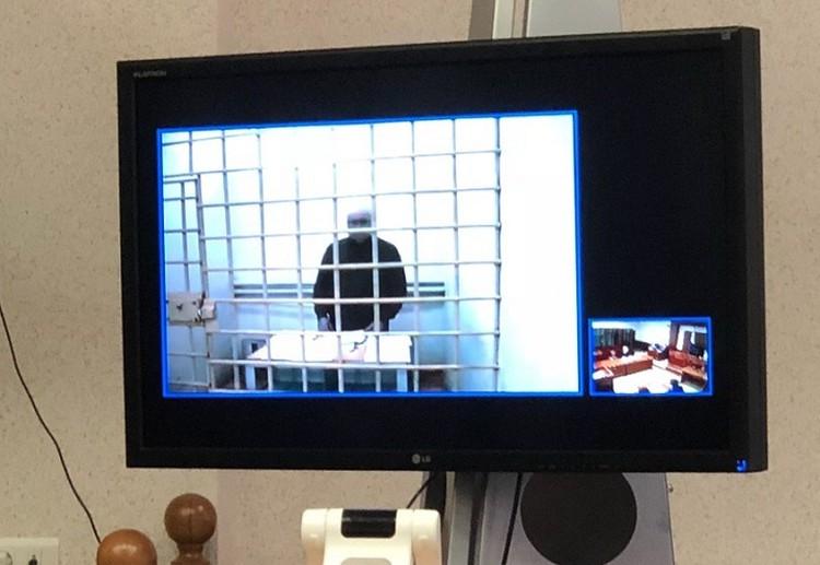 Обвиняемый наблюдал за заседанием по конференц-связи