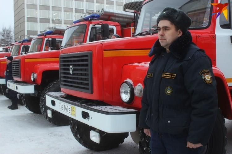 Пожарные авто прибыли в Сыктывкар только вчера, машины еще даже не поставлены на учет