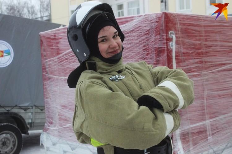 Доброволец пожарной дружины Кристина Панарина готова всегда прийти на помощь