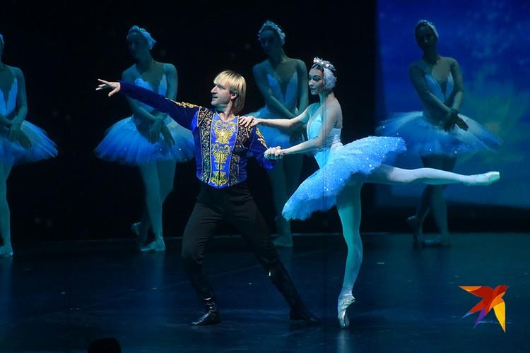 Евгений Плющенко с примой-балериной Ольгой Смирновой танцевал на паркете и на льду