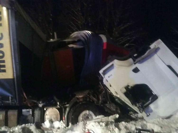 Травмы различной степени тяжести получили шесть пассажиров поезда. Фото: Prezídium Hasičského a záchranného zboru