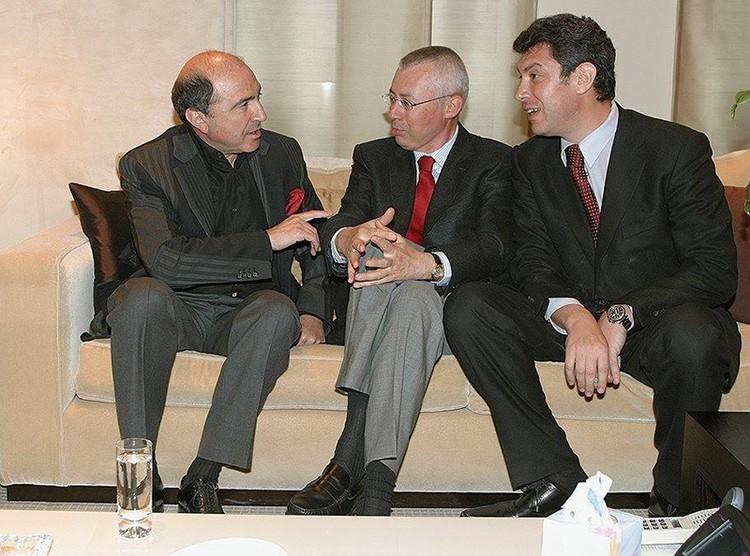 Борис Березовский, Игорь Малашенко и Борис Немцов. Фото: Дмитрий Михеев