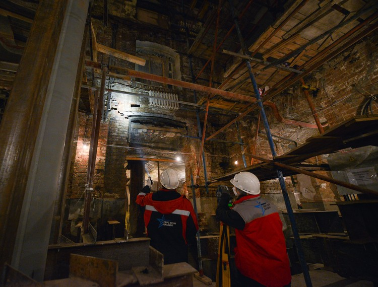 Реставраторы удивляются ужасному техническому состоянию Политехнического музея в последние годы. Фото: ДОМ.РФ
