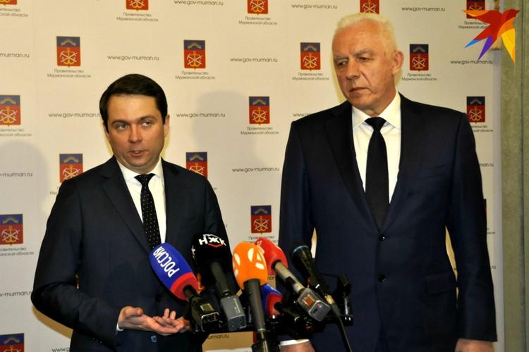Первое выступление врио губернатора Мурманской области на публике.