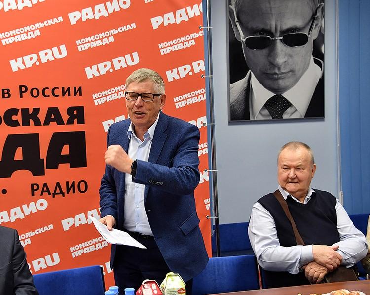 """Поздравления от главного редактора """"Комсомольской правды"""" Владимира Сунгоркина."""