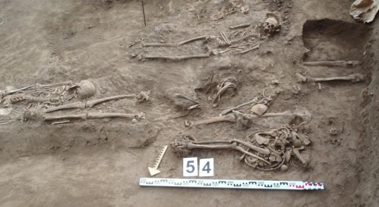 Останки погибших защитников крепости