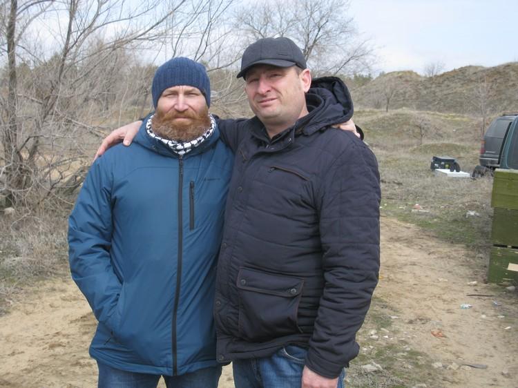 Актеры Юрий Миронцев (слева) и Дмитрий Мальков. Фото: Владислав РАХМАТУЛИН.