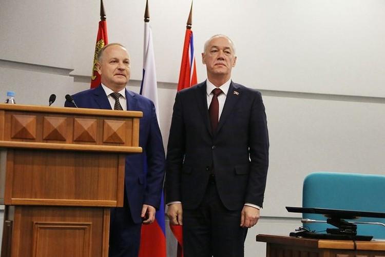Новый мэр Владивостока и председатель Думы Андрей Брик